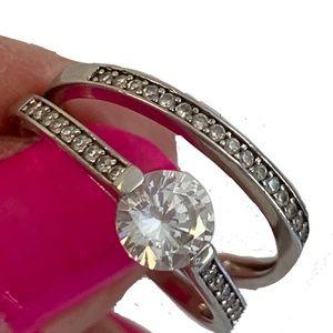 Jewelry - Wedding Band & Engagement Ring Set. Size 7 3/4